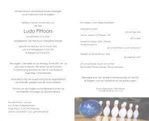 Ludo Pittoors rouwkaart