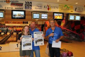14 5e Den Baas en zijn madam Toernooi 2018 3e plaats Adri Paling en Jamie Paling