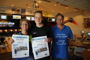 10 6e Den Baas en zijn Madam Toernooi 2019 3e plaats Claudia Kutzner en Devin van Staaijeren