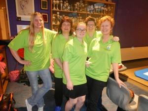 15 Damesteam halve finale SO Senioren 2017 Angelique de Graaf, Katty Paling, Lindsey Paling, Tamara Meulmeester en Helene de Ruiter