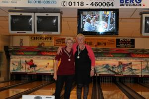 01 VK Senioren 2018 Top 2 Dames D Coby Matthijsse en Vera Hoeneveld