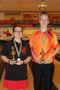 08 Verenigingskampioenen Senioren 2017-2018 Lindsey Paling en Brent de Ruiter